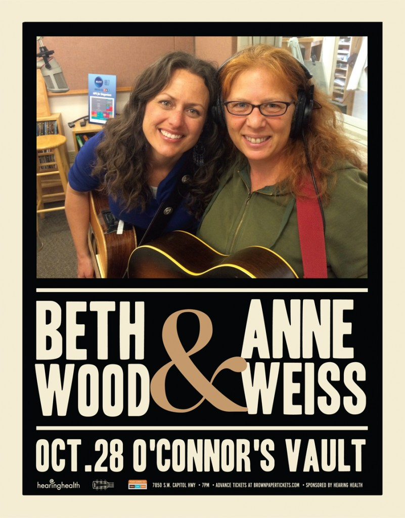 Beth Woods and Anne Weiss at O'Connor's Vault, Oct 28, 2016