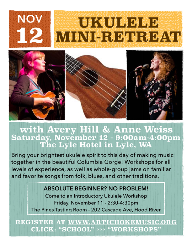 Anne Weiss and AVery Hill - ukulele workshop